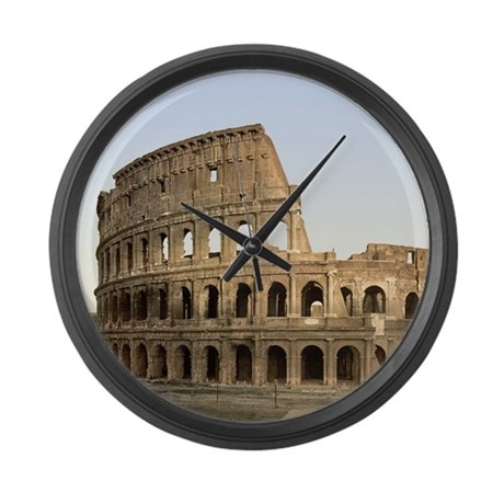 Vintage Colosseum Large Wall Clock