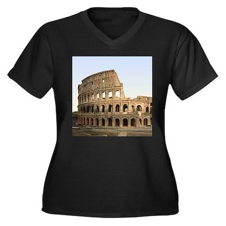 Vintage Colosseum Women's Plus Size V-Neck Dark T-