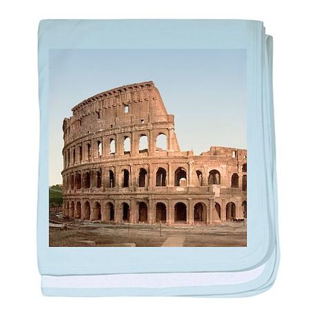Vintage Colosseum baby blanket