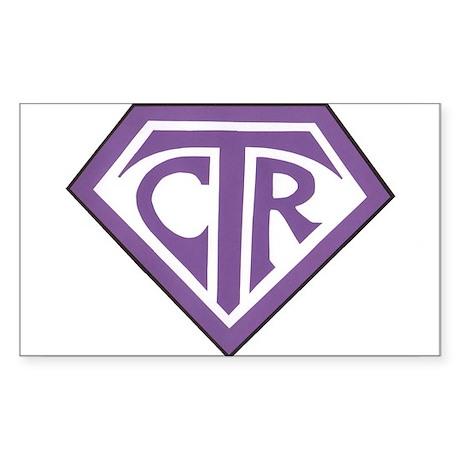 Royal CTR emblem Sticker (Rectangle)