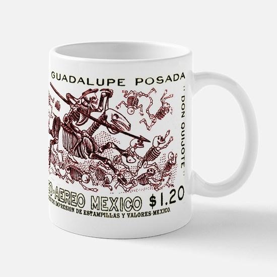 1963 Mexico Don Quijote Skeletons Postage Stamp Mu