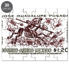 1963 Mexico Don Quijote Skeletons Postage Stamp Pu