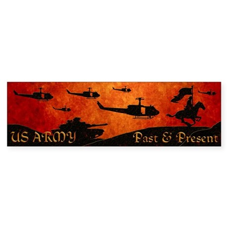 Harvest Moons Army Past & Present Sticker (Bum