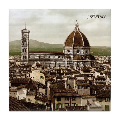 Vintage Florence Cathedral Tile Coaster