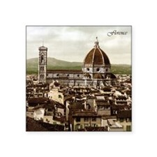 "Vintage Florence Cathedral Square Sticker 3"" x 3"""