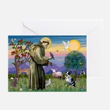 St Francis / Cattle Dog Greeting Cards (Pk of 10)