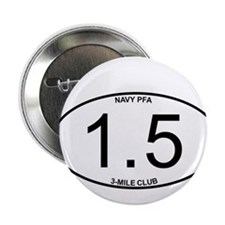 "Navy PFA 1.5 Mile 3-Mile Club Member 2.25"" Button"