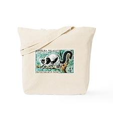 1961 Madagascar Ruffled Lemur Stamp Tote Bag