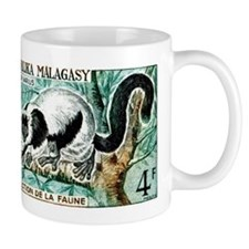 1961 Madagascar Ruffled Lemur Stamp Mug