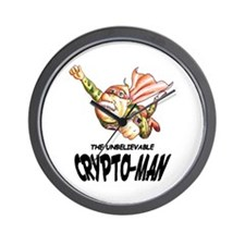 Flying Crypto-Man Wall Clock