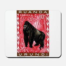 1959 Rwanda Mountiain Gorilla Stamp Mousepad