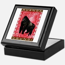 1959 Rwanda Mountiain Gorilla Stamp Keepsake Box