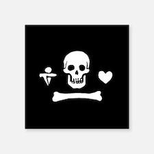 "Stede Bonnet Flag Square Sticker 3"" x 3"""