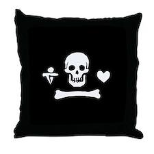 Stede Bonnet Flag Throw Pillow