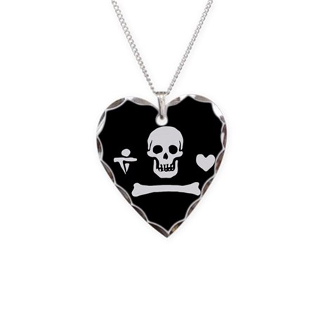 Stede Bonnet Flag Necklace Heart Charm