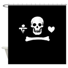 Stede Bonnet Flag Shower Curtain