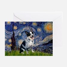Starry Aussie Cattle Dog Greeting Cards (10)