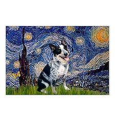 Starry Night Aussie Cattle Dog Postcards (Package