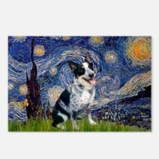 Starry Night Aussie Cattle Dog Postcards (Package