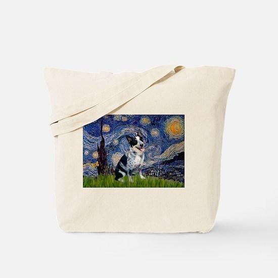 Starry Night Aussie Cattle Dog Tote Bag