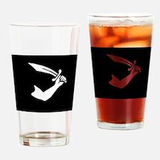 Thomas Tew Flag Drinking Glass