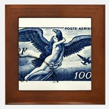 1947 France Airmail Postage Stamp Framed Tile