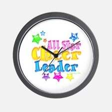 Neon All Star Cheerleader Wall Clock