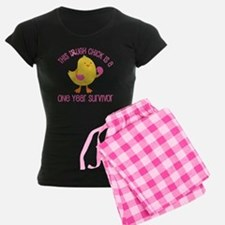 Breast Cancer 1 Year Survivor Chick Pajamas
