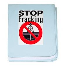 Stop Fracking baby blanket