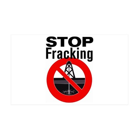 Stop Fracking 35x21 Wall Decal