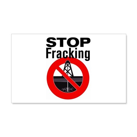 Stop Fracking 20x12 Wall Decal