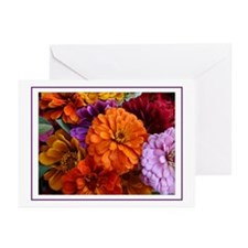 Southhampton Zinnias Greeting Cards (Pk of 10)