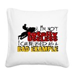 Not Totally Useless - Snowmob Square Canvas Pillow
