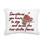 Two-Stroke Roses Rectangular Canvas Pillow