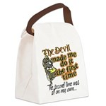 The Devil Made Me Do It Canvas Lunch Bag
