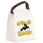 deepclock.png Canvas Lunch Bag