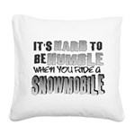 Hard to be Humble Square Canvas Pillow