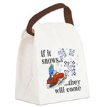 If It Snows Canvas Lunch Bag