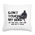 Snowmobile Threat Square Canvas Pillow