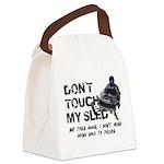Snowmobile Threat Canvas Lunch Bag