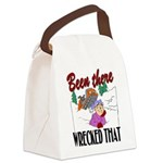 been there, wrecked that.png Canvas Lunch Bag