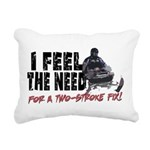 Two Stroke Fix Rectangular Canvas Pillow