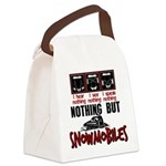 Nothing but Snowmobiles Canvas Lunch Bag