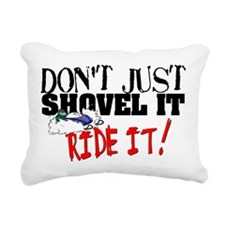 Don't Shovel It, Snowmobile Rectangular Canvas Pil