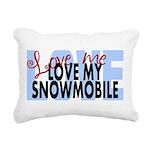 Love Me - Snowmobile Rectangular Canvas Pillow
