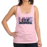 Love Me - Snowmobile Racerback Tank Top