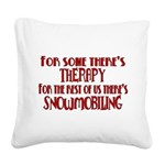 therapy.png Square Canvas Pillow