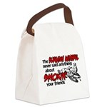 smoking your friends.png Canvas Lunch Bag
