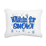 Wishin' For Snow Rectangular Canvas Pillow