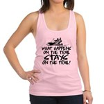 What Happens on the Trail... Racerback Tank Top